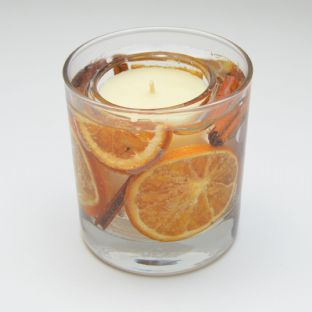 Orange & Cinnamon Scented Candle Gel Tumbler